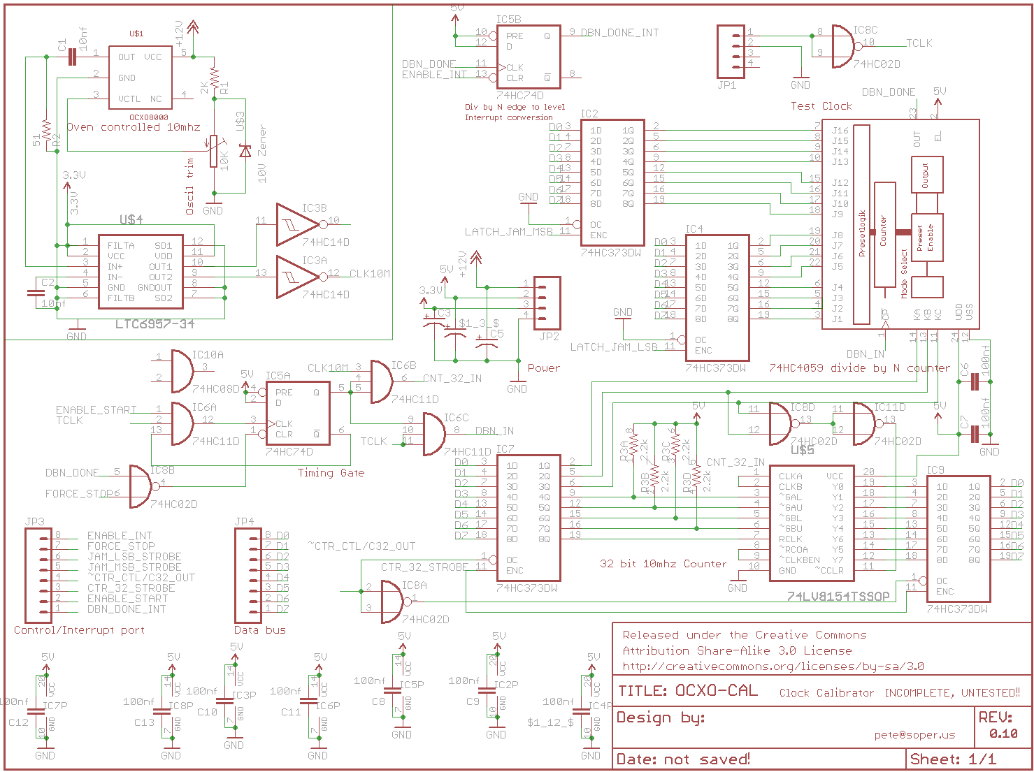 Clock Calibrator Frequency Counter Triembed Circuits Source Code Files Took A Few Days Off To Deal With Other Things The Schematic Was Getting Too Crowded So I Split Ocxo 10mhz Power Supply