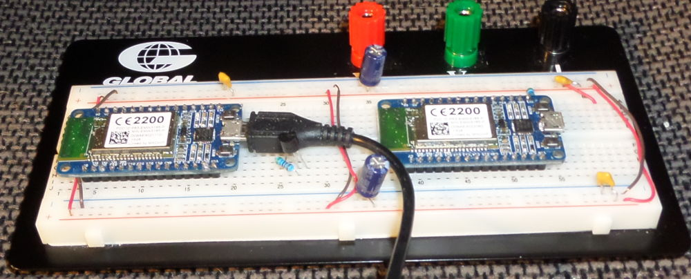 Pair of WiFiMCU EMW3165 Carrier/USB/Power