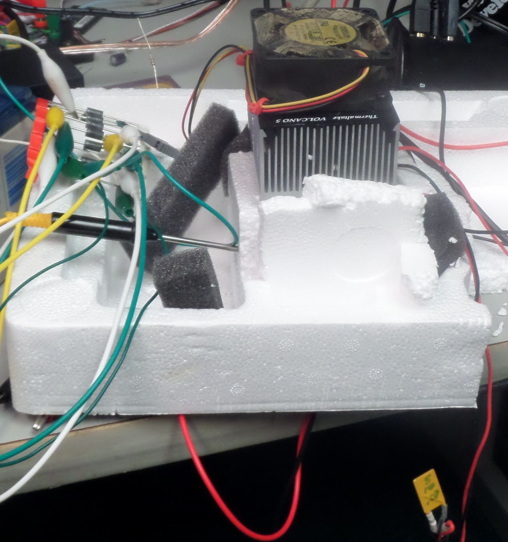 Peltier test setup